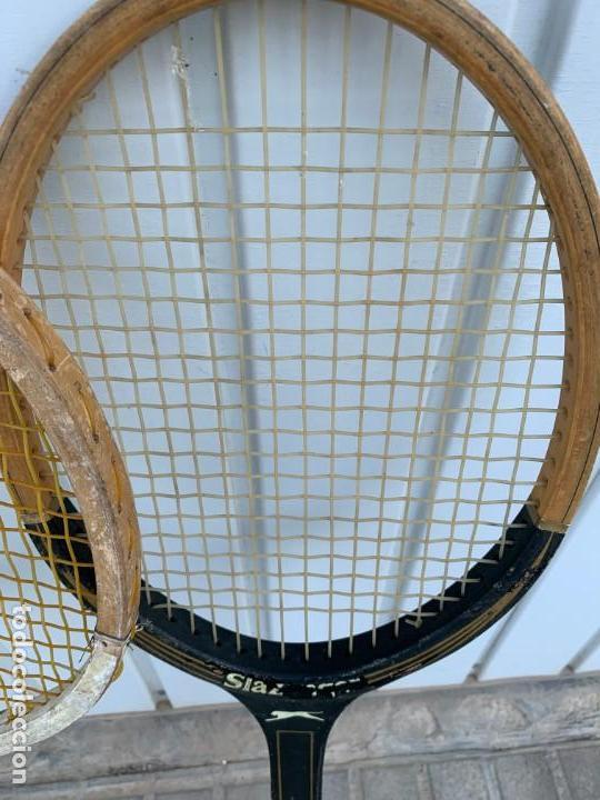 Coleccionismo deportivo: LOTE DE RAQUETAS DE TENIS ANTIGUAS DE MADERA - Foto 5 - 171521798