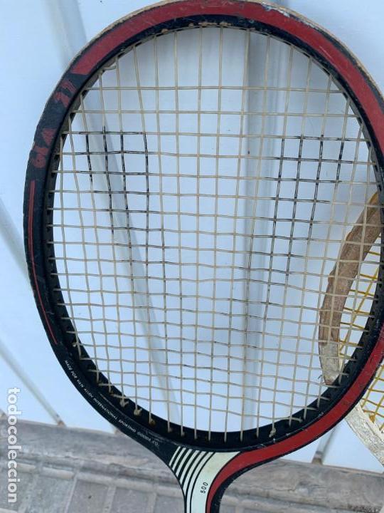 Coleccionismo deportivo: LOTE DE RAQUETAS DE TENIS ANTIGUAS DE MADERA - Foto 7 - 171521798