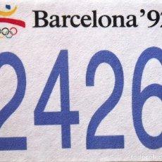 Coleccionismo deportivo: JOSEP MARIA TRIAS. DORSAL ORIGINAL SERIGRAFIADO JUEGOS OLÍMPICOS 1992. Nº 2426. BARCELONA 1992.. Lote 172760343