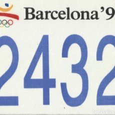 Coleccionismo deportivo: JOSEP MARIA TRIAS. DORSAL ORIGINAL SERIGRAFIADO JUEGOS OLÍMPICOS 1992. Nº 2432. BARCELONA 1992.. Lote 172760983