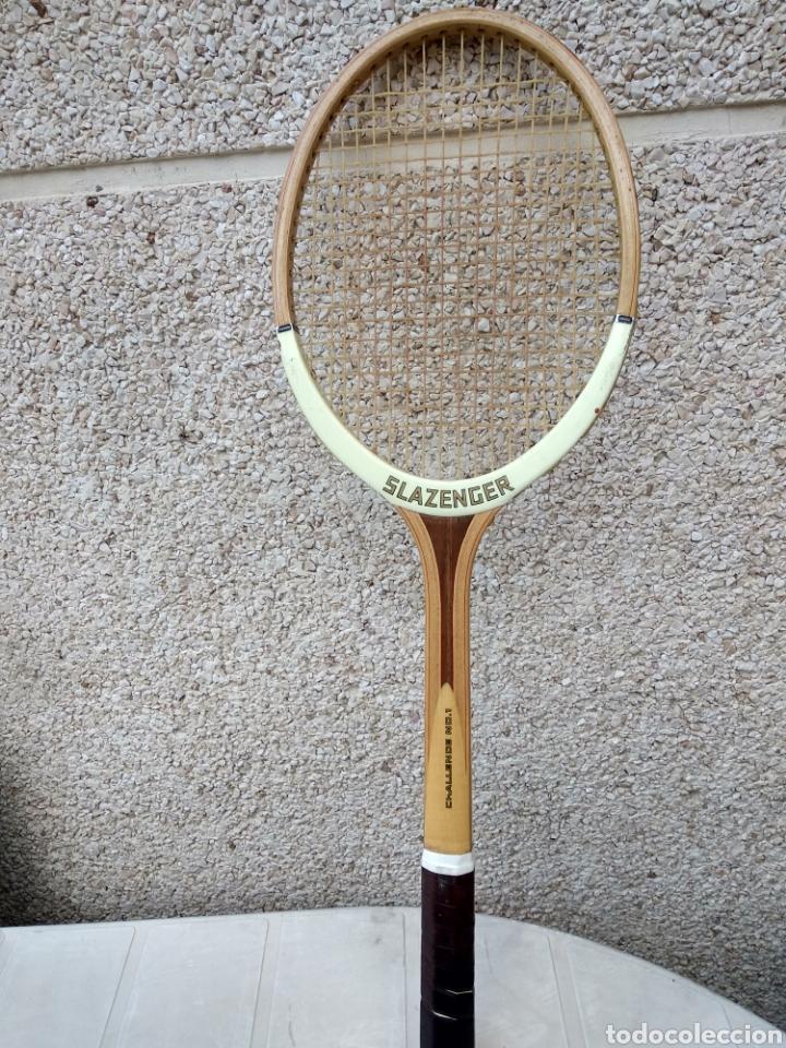 Coleccionismo deportivo: Raqueta de madera slazenger. Challenge Nº 1. Difícil de encontrar light 3 - Foto 4 - 174512927