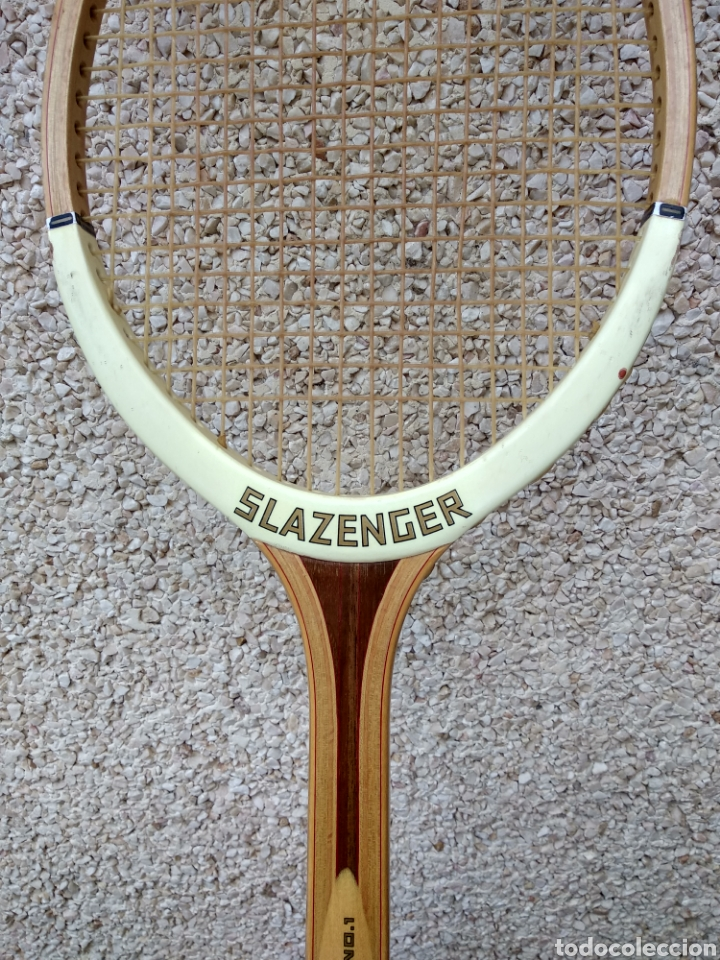 Coleccionismo deportivo: Raqueta de madera slazenger. Challenge Nº 1. Difícil de encontrar light 3 - Foto 5 - 174512927