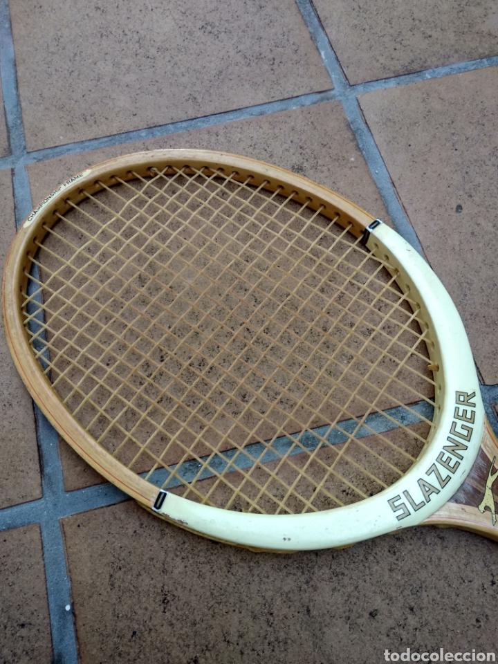 Coleccionismo deportivo: Raqueta de madera slazenger. Challenge Nº 1. Difícil de encontrar light 3 - Foto 9 - 174512927