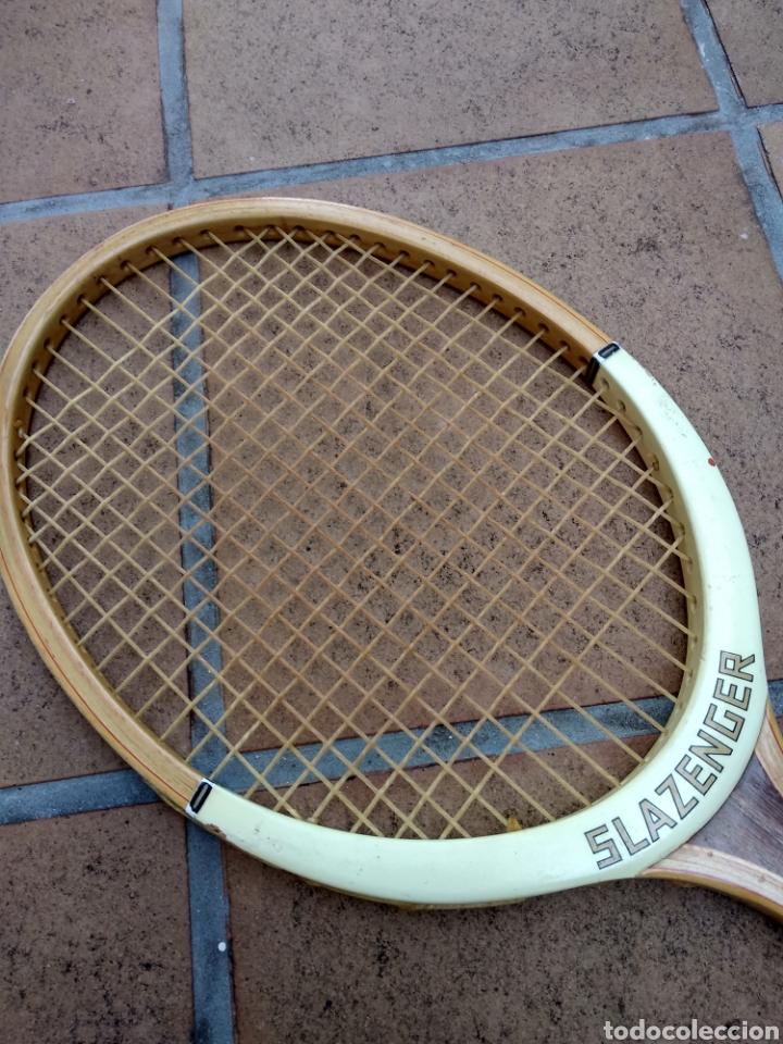 Coleccionismo deportivo: Raqueta de madera slazenger. Challenge Nº 1. Difícil de encontrar light 3 - Foto 10 - 174512927