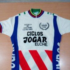 Coleccionismo deportivo: ANTIGUO MAILLOT CICLISMO INFANTIL CICLOS JOGAR ELCHE AÑOS 80 - BUEN ESTADO - . Lote 175826235