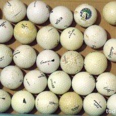Coleccionismo deportivo: LOTE DE 38 PELOTAS DE GOLF. DIFERENTES MARCAS: INESIS, DUNLOP, WILSON, GREENWAY, MAXFLI, ETC. 2005. . Lote 176102983