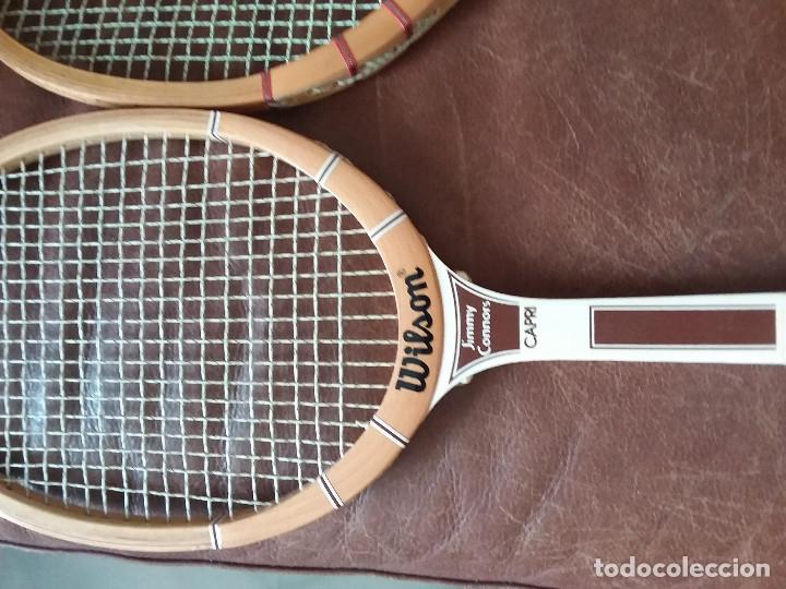 Coleccionismo deportivo: Raquetas vintage Wilson, Jimmi Connors y Jack kramer autograph con fundas. Made in USA y Belgium. - Foto 2 - 176645070