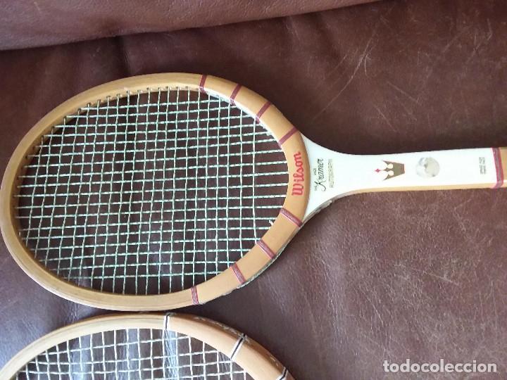 Coleccionismo deportivo: Raquetas vintage Wilson, Jimmi Connors y Jack kramer autograph con fundas. Made in USA y Belgium. - Foto 3 - 176645070