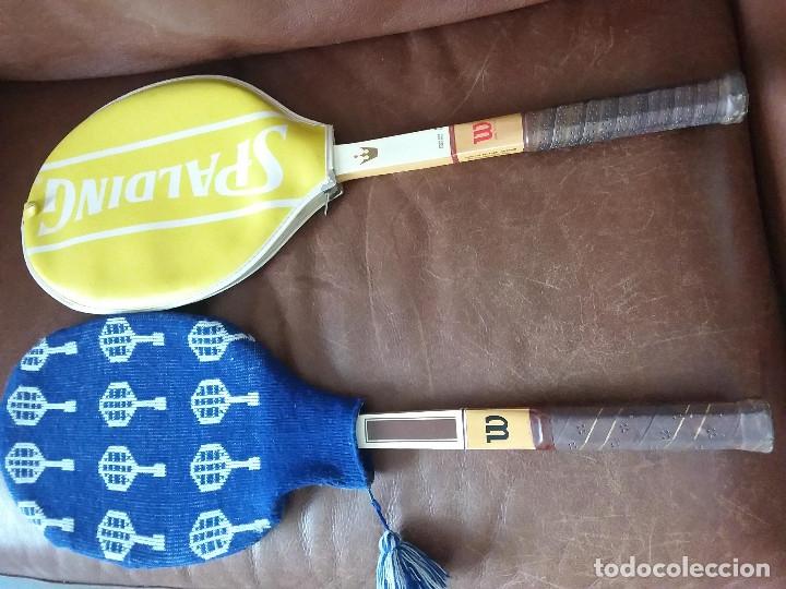 Coleccionismo deportivo: Raquetas vintage Wilson, Jimmi Connors y Jack kramer autograph con fundas. Made in USA y Belgium. - Foto 4 - 176645070