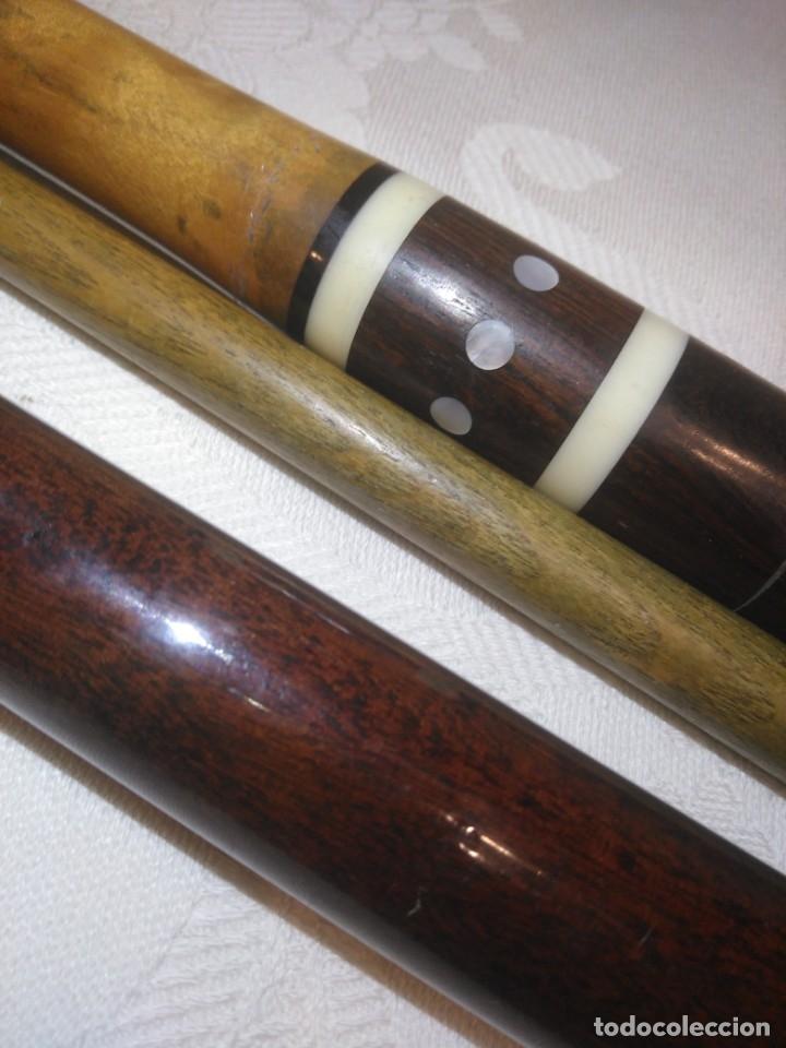 Coleccionismo deportivo: MAGNÍFICOS PALOS TACOS DE BILLAR DE MADERA - Foto 2 - 176705430