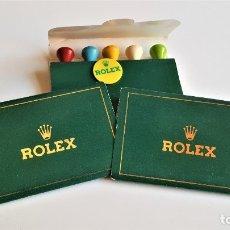 Coleccionismo deportivo: ROLEX LOTE 3 SET X 5 TEES ORIGINAL ROLEX GOLF. Lote 177427439