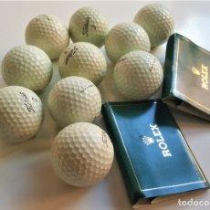Coleccionismo deportivo: LOTE DE 10 BOLAS GOLF + 2 SET DE TEES ROLEX. Lote 178062615