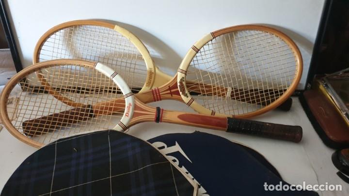 Coleccionismo deportivo: TRIO RAQUETAS DE MADERA - Foto 2 - 178161595
