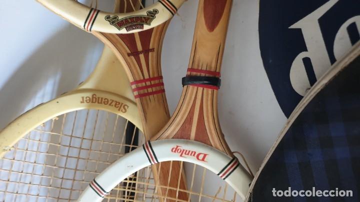 Coleccionismo deportivo: TRIO RAQUETAS DE MADERA - Foto 3 - 178161595