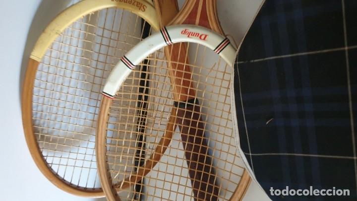 Coleccionismo deportivo: TRIO RAQUETAS DE MADERA - Foto 4 - 178161595