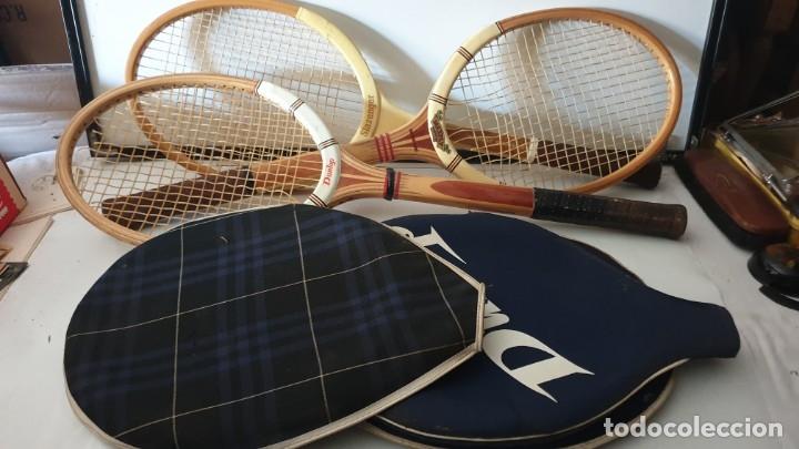 Coleccionismo deportivo: TRIO RAQUETAS DE MADERA - Foto 6 - 178161595