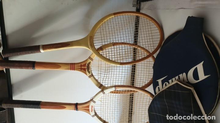 Coleccionismo deportivo: TRIO RAQUETAS DE MADERA - Foto 7 - 178161595