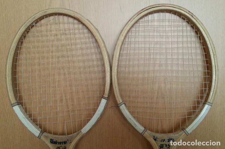 Coleccionismo deportivo: Raquetas de tenis vIntage. Marca University. Pareja - Foto 2 - 178960235