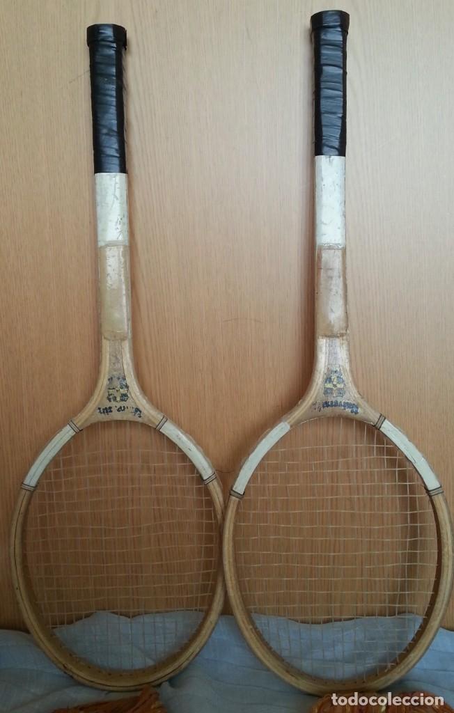 Coleccionismo deportivo: Raquetas de tenis vIntage. Marca University. Pareja - Foto 5 - 178960235