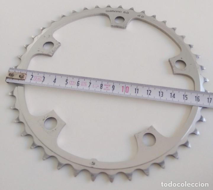 Coleccionismo deportivo: Plato Shimano SG 42. Recambio bicileta ciclismo. ref2 - Foto 5 - 179080578