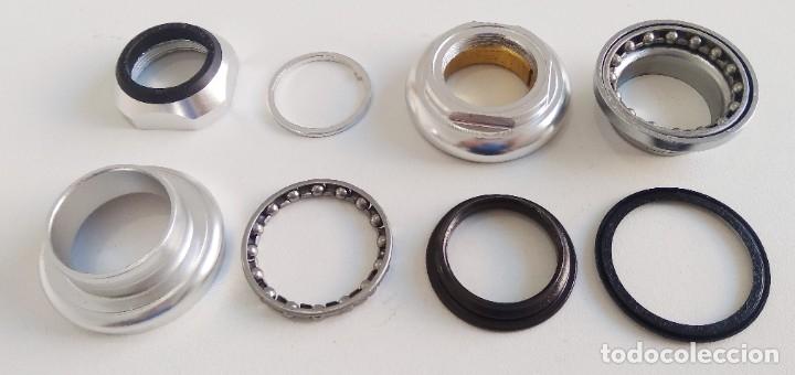 Coleccionismo deportivo: Juego de dirección FSA aluminio 22.2mm. Incompleto? Ver fotos. Recambio bicicleta ciclismo - Foto 4 - 179133478