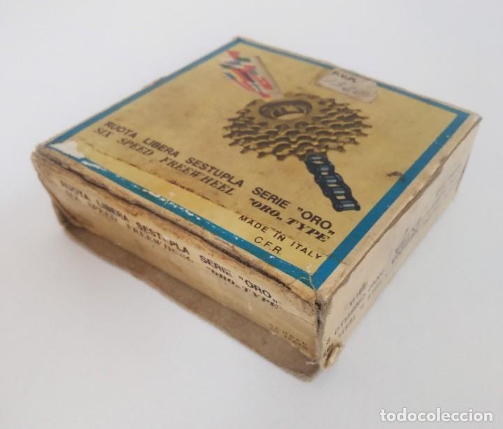 Coleccionismo deportivo: Piñón cassette Regina Extra Oro 6 velocidades 13-23. Con caja. Recambio bicicleta clásica - Foto 6 - 179139383