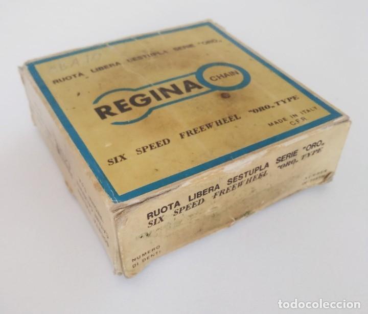 Coleccionismo deportivo: Piñón cassette Regina Extra Oro 6 velocidades 13-23. Con caja. Recambio bicicleta clásica - Foto 7 - 179139383