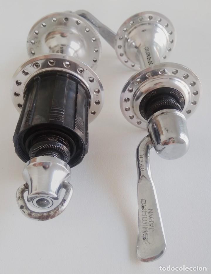 Coleccionismo deportivo: Grupo bujes Shimano Dura-Ace FH-7402. Recambio bicicleta ciclismo. Ref2 - Foto 3 - 179187515