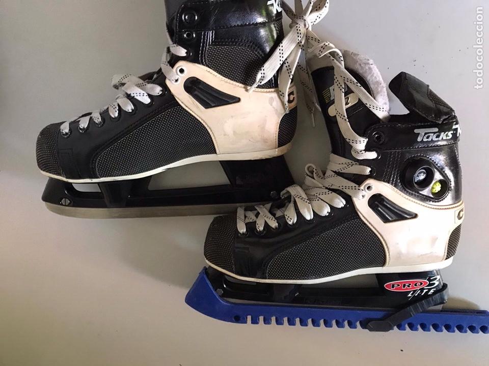 Coleccionismo deportivo: Antiguos patines de hockey prote lite - Foto 3 - 179552842
