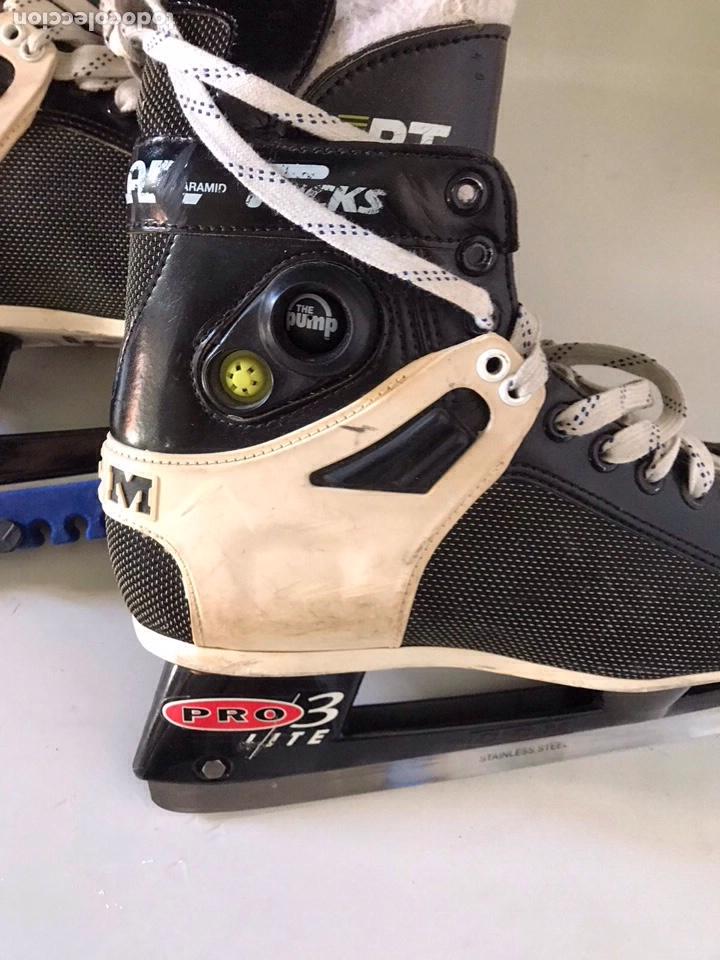 Coleccionismo deportivo: Antiguos patines de hockey prote lite - Foto 4 - 179552842