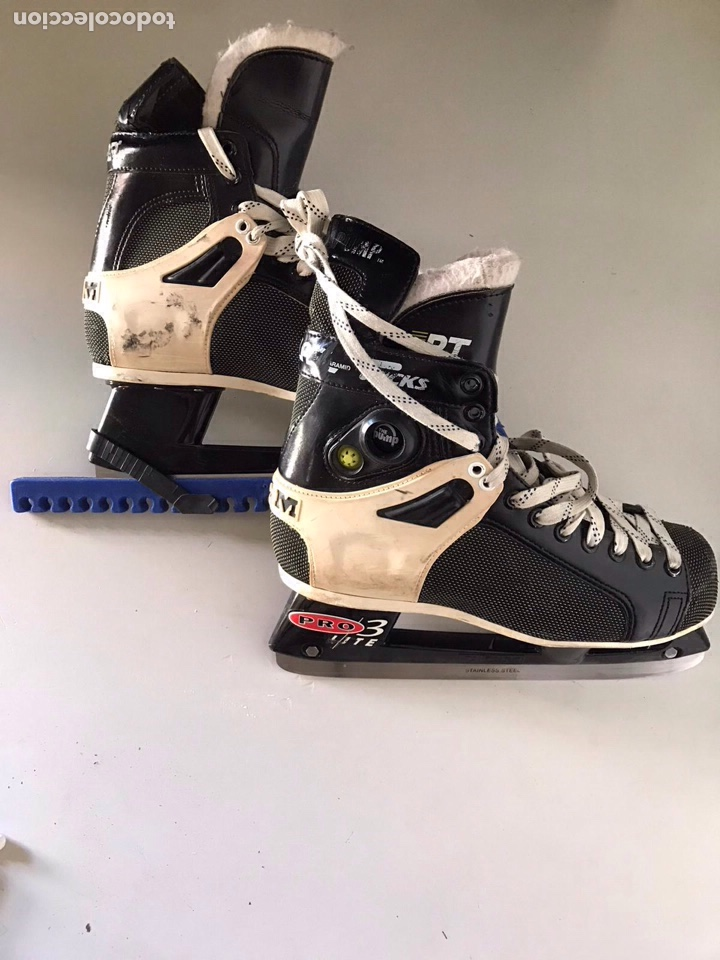 Coleccionismo deportivo: Antiguos patines de hockey prote lite - Foto 5 - 179552842