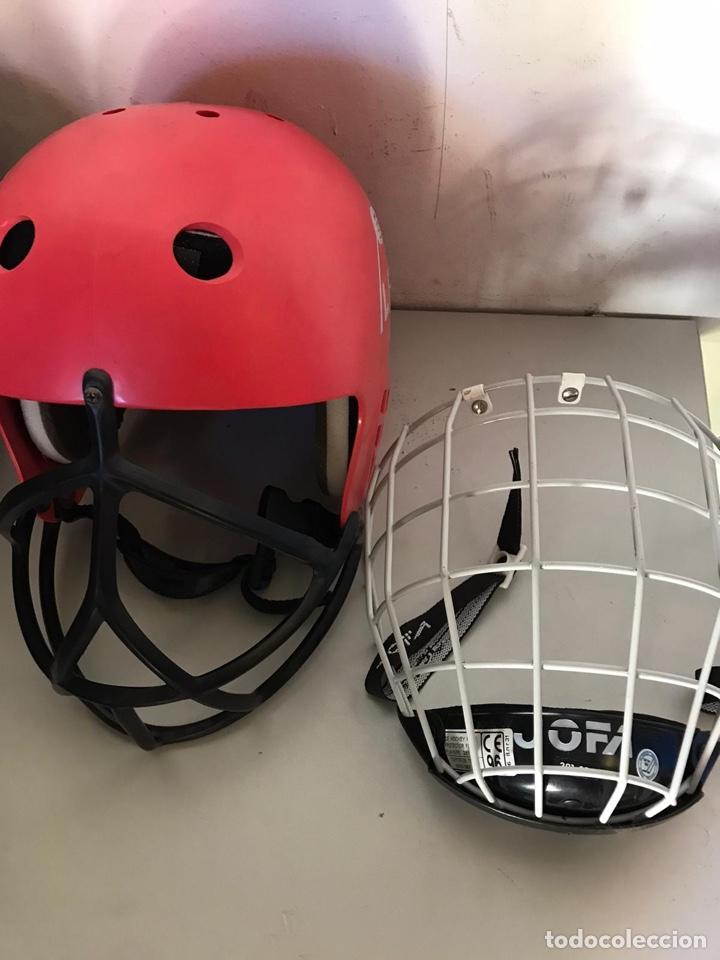 ANTIGUO CASCO DE HOCKEY Y PROTECTOR (Coleccionismo Deportivo - Material Deportivo - Otros deportes)