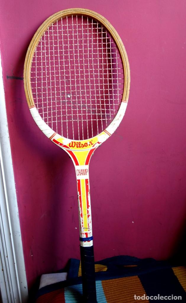 Coleccionismo deportivo: Tres raquetas tenis madera vintage - Foto 7 - 180185191