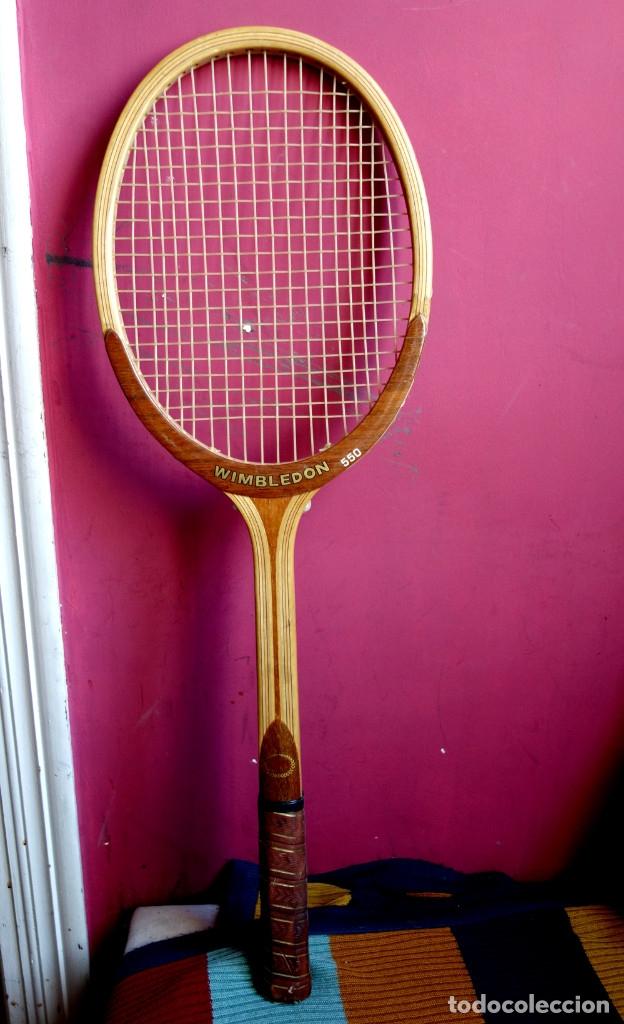 Coleccionismo deportivo: Tres raquetas tenis madera vintage - Foto 2 - 180185191