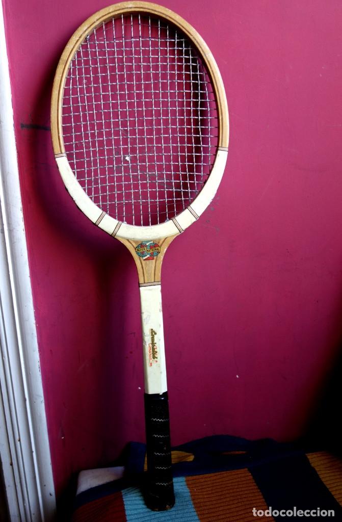 Coleccionismo deportivo: Tres raquetas tenis madera vintage - Foto 3 - 180185191