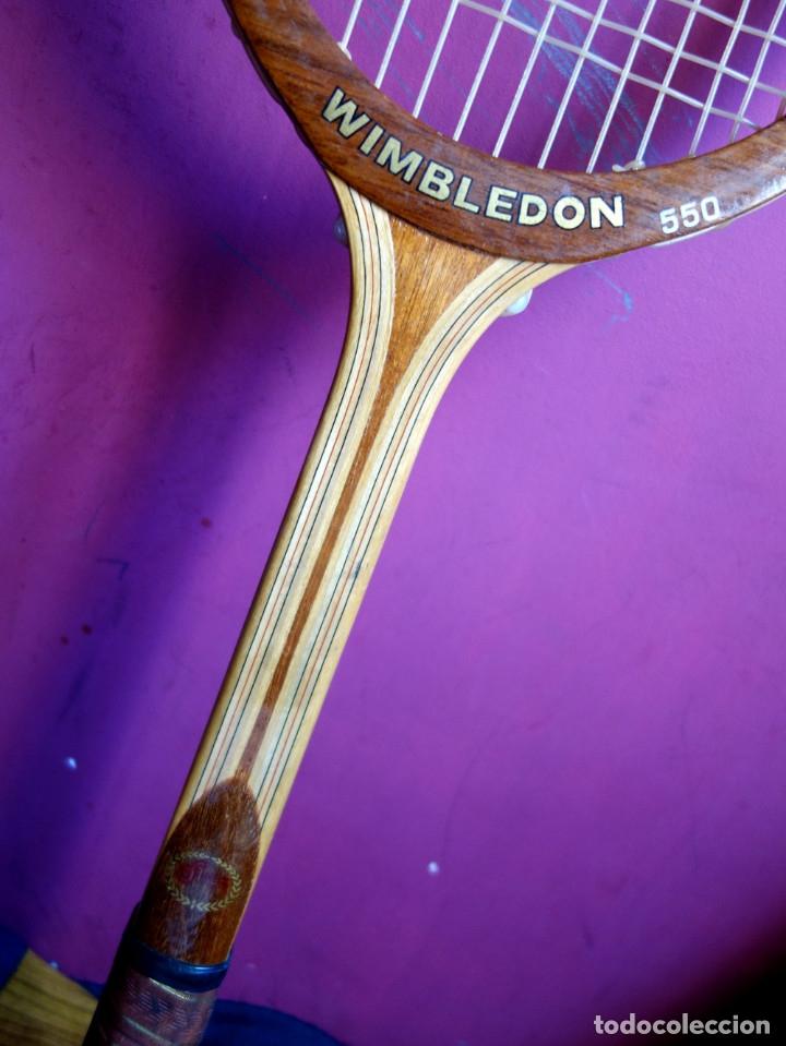 Coleccionismo deportivo: Tres raquetas tenis madera vintage - Foto 5 - 180185191