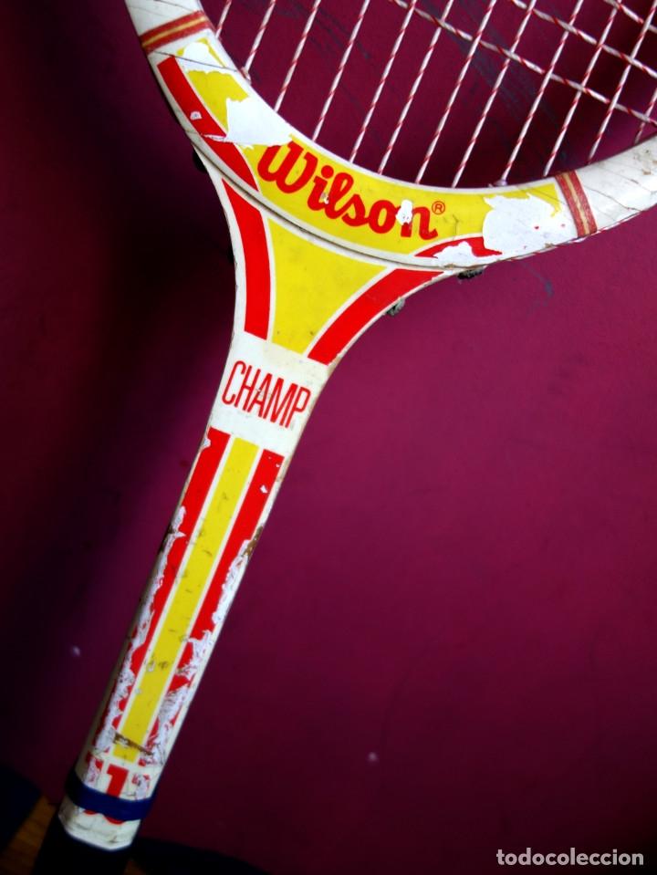 Coleccionismo deportivo: Tres raquetas tenis madera vintage - Foto 6 - 180185191