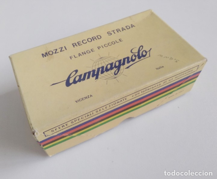 Coleccionismo deportivo: Grupo bujes Campagnolo con caja. Recambio bicicleta clásica ciclismo. Falta un pasante - Foto 9 - 180494791