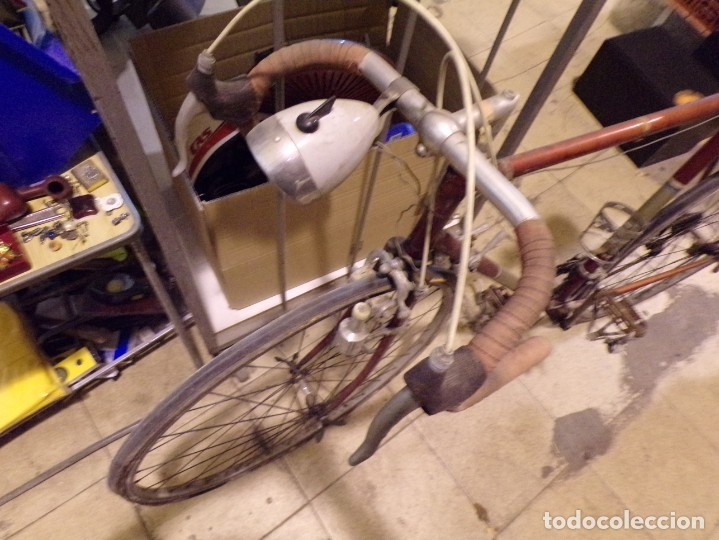 Coleccionismo deportivo: bicicleta carretera con foco y sillin nervi sin porta bidon foto - Foto 2 - 182175941