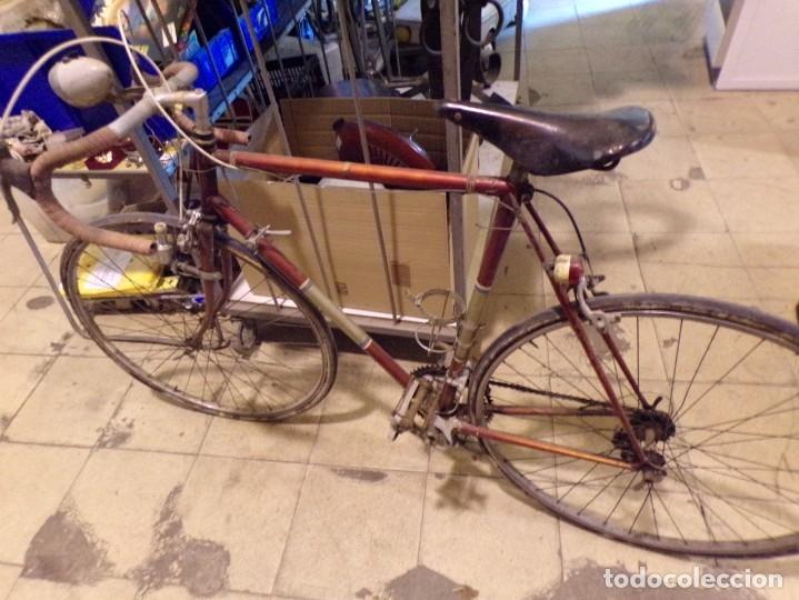 Coleccionismo deportivo: bicicleta carretera con foco y sillin nervi sin porta bidon foto - Foto 6 - 182175941