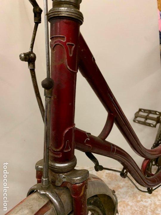 Coleccionismo deportivo: Espectacular bicicleta antigua infantil de varillas. Leer mas y ver fotos - Foto 11 - 182625125