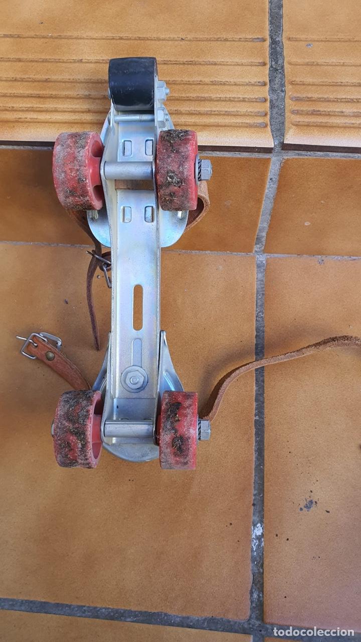 Coleccionismo deportivo: Bonitos patines antiguos, fabricación española - Foto 4 - 183444185