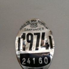Coleccionismo deportivo: MATRICULA BICICLETA SANTANDER 1974. Lote 186177683