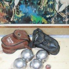 Coleccionismo deportivo: BOLAS DE PITANCA OBUT LOTE DE 4 BOLAS 710/730 MARCADAS OBUT. Lote 187304747