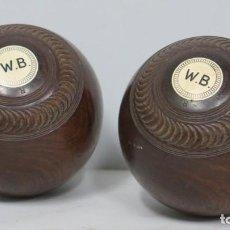 Coleccionismo deportivo: PAREJA BOLAS DE BOWLING. CRESCEN GRIP. Lote 189181358