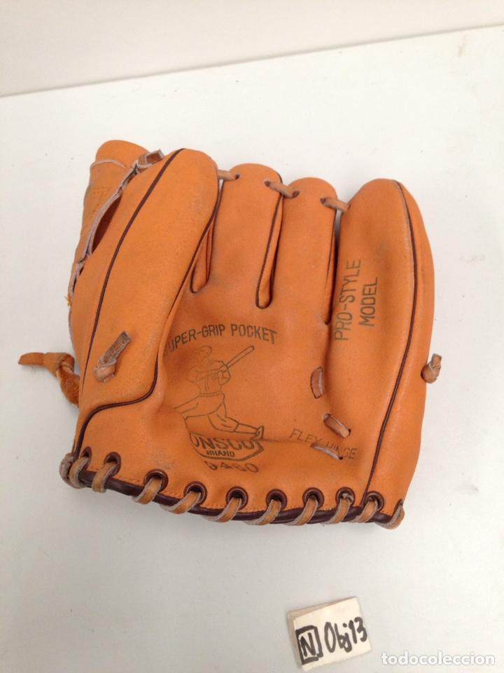 Coleccionismo deportivo: Antigua guante de béisbol sonsco - Foto 2 - 190396093