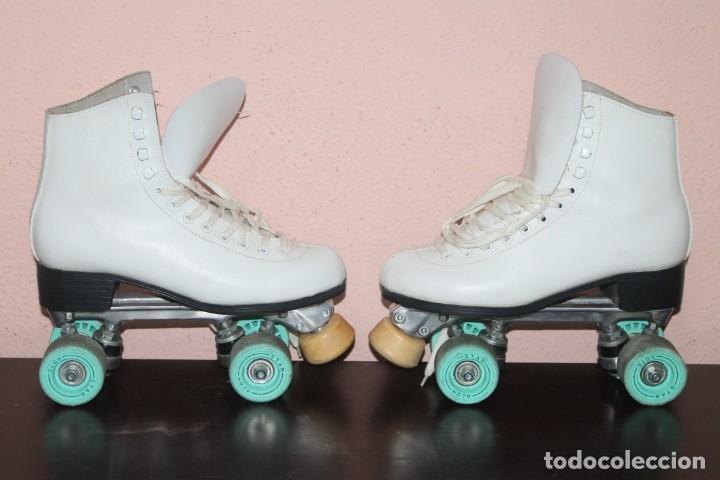 Coleccionismo deportivo: bonitos patines de cuatro ruedas talla 40 - Foto 2 - 191309975