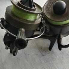 Coleccionismo deportivo: 2 CARRETES ANTIGUOS DE PESCA SAGARRA. Lote 191350770