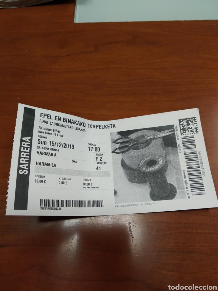ENTRADA DE PELOTA A MANO FRONTON (Coleccionismo Deportivo - Material Deportivo - Otros deportes)