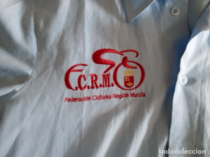 Coleccionismo deportivo: Camisa Federación Española de Ciclismo. Federación Murciana. Ciclos Sarabia. Talla M - Foto 4 - 194784535